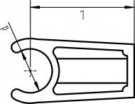 Удлиненная крепежная клипса - схема